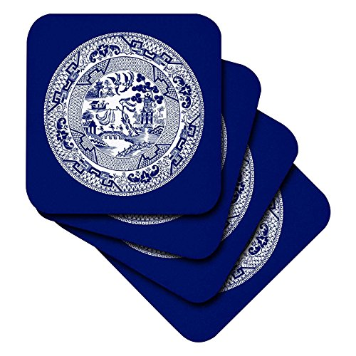 3dRose Willow Pattern Delft White