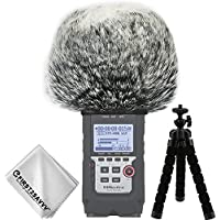 First2savvv Outdoor Portable Digital Recorders Furry Microphone Mic Windscreen Wind Muff for Zoom H4n Pro H4n Pro+ -TM-DM-H4NPro-A01TZ3