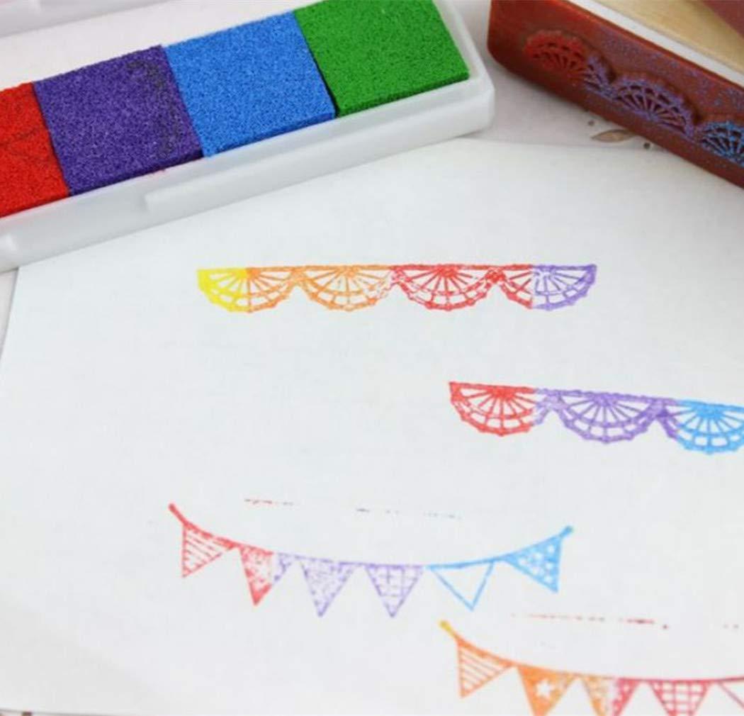 Stile F 1 Pezzi Arcobaleno Cuscinetti per timbri Lavabile Impronta Digitale Inkpad per Timbri in Gomma Carta Mestiere Scrapbooking Bomboniera di SamGreatWorld