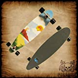 Paradise White Sunset Complete Longboard, 9.5x39.5-Inch