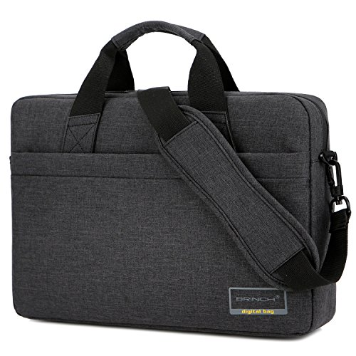 BRINCH 15.6 Inch Stylish Lightweight Business Laptop Shoulder Messenger Bag Briefcase Sleeve Case for 15 - 15.6 Inches Laptop / Notebook / MacBook / Ultrabook / Chromebook Computers,Black