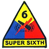 U.S. Army 6th Armored Division Patch Red & Yellow 3 by FindingKing