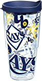Tervis MLB Tampa Rays All Over Tumbler with BL3 Travel Lid, 24 oz, Clear