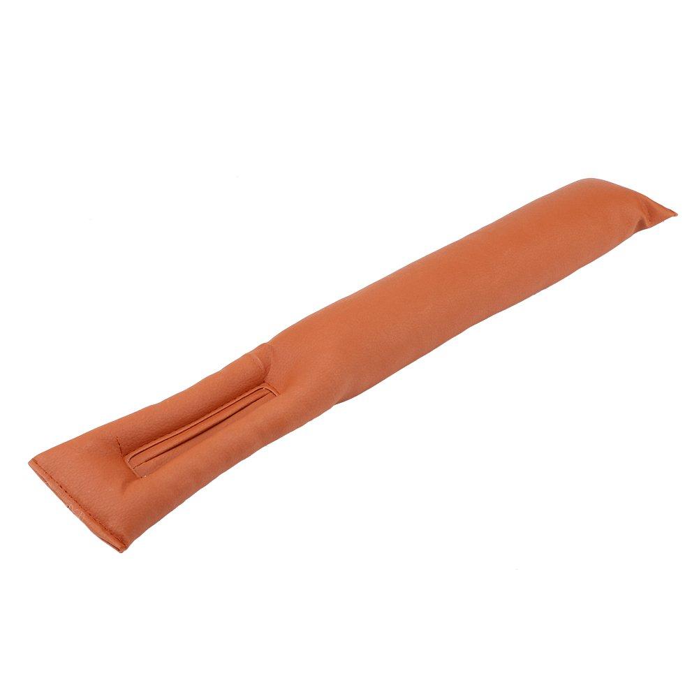 OKBY Car Gap Filler - Universal Pu Leather, Car Seat Gap Tampone a Tenuta stagna, Manicotto Protettivo della Cucitura del Sedile (Color : Black)