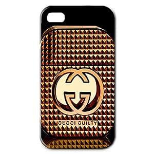 Unique GUCCI Logo Design 3D Hard Plastic Case Cover Snap on Iphone 4 GUCCI Series