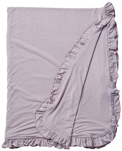 KicKee Pants Solid Ruffle Stroller Blanket, Feather by Kickee Pants