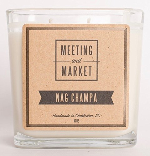 Nag Champa Candle - Soy Wax Scented Candle - Long Burning Candle for Men or Women - Premium Fragrance Candle