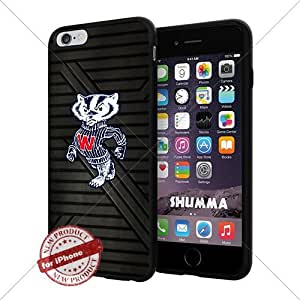 """NCAA-Wisconsin Badgers,Cool iPhone 6 Plus (6+ , 5.5"""") Smartphone Case Cover Collector iphone TPU Rubber Case Black"""