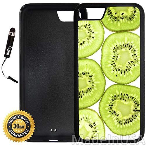 Custom iPhone 7 Case (Cute Kiwi Pattern) Edge-to-Edge Rubber Black Cover Ultra Slim | Lightweight | Includes Stylus Pen by Innosub