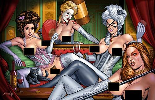 Faro's Lounge Superhero Strip Poker - Cathouse - Catwoman, Cheetara, Black Cat, Harley