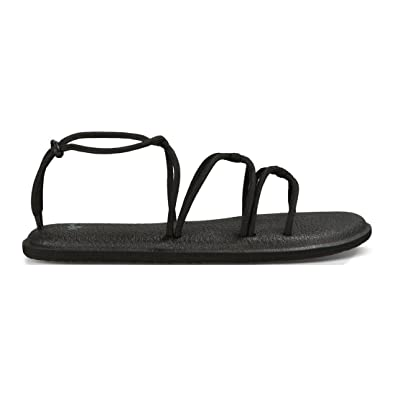 b36ef44be4b8 Sanuk Womens Yoga Sunrise Sandal Black Size 9