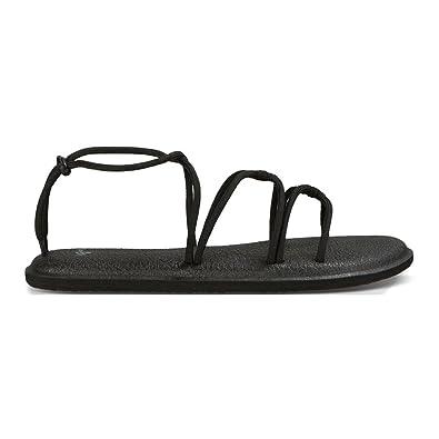 fb8c14e5f01c4e Sanuk Womens Yoga Sunrise Sandal Black Size 9