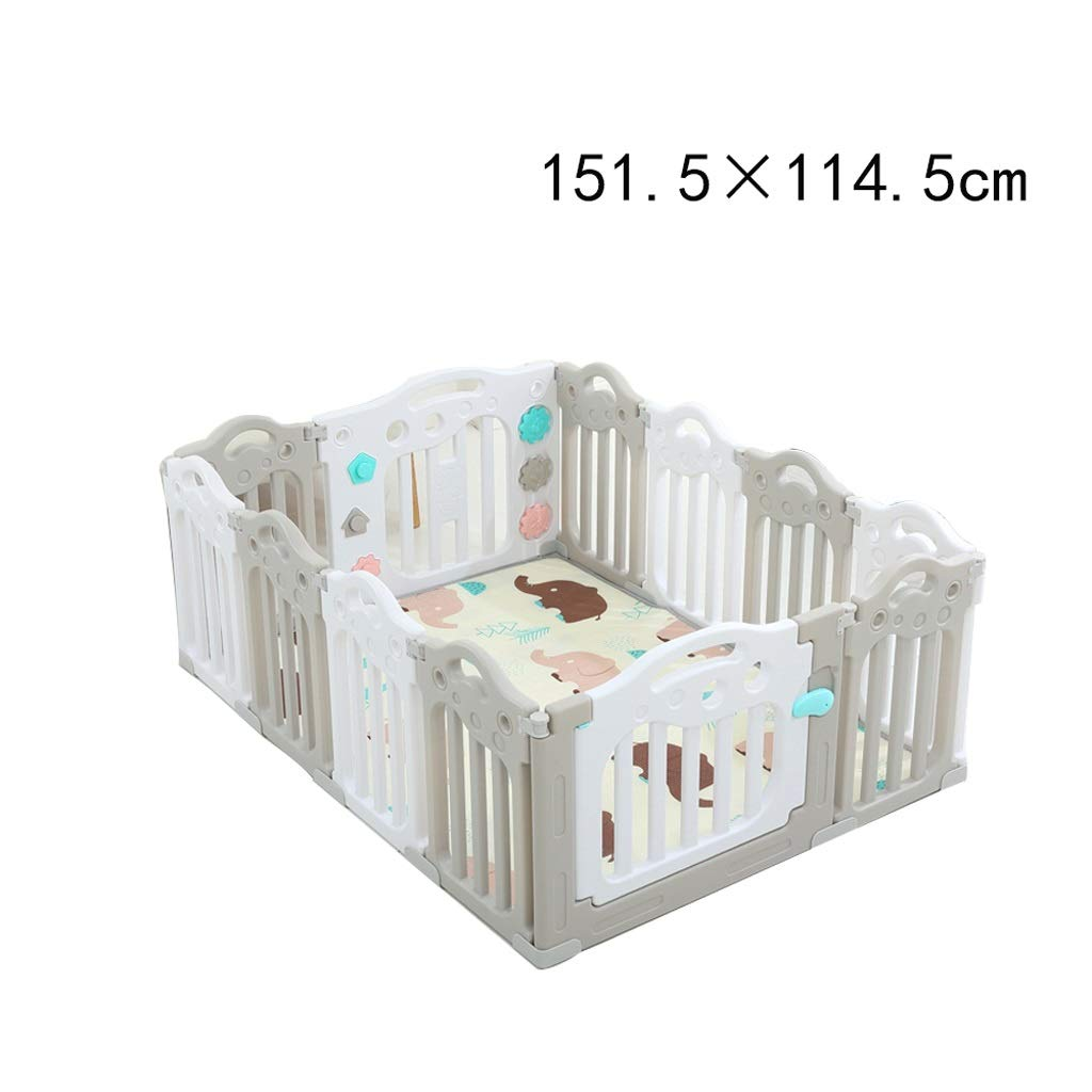 TLMY 赤ちゃんのベビーサークル、子供の遊び場フェンス屋内ホームベビークロールフェンス屋内遊び場、マルチサイズ ベッドガードレール (Size : 151.5 × 114.5cm) 151.5 × 114.5cm  B07T3DWC5B