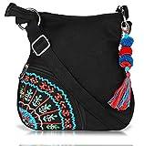 Sling Bag Pick Pocket Women's Sling Bag (Black,Slblkbside55)