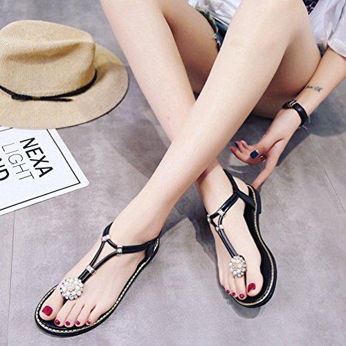 Donna Jitian Sabot sandali sandali Jitian Sabot Donna Nero vzdFwYdqx