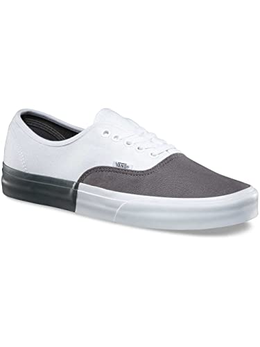863be2ff123 Image Unavailable. Image not available for. Color  Vans Authentic Mens 12  Blocked Pewter True White Fashion Sneaker