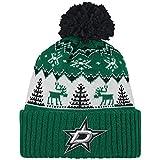 NHL Dallas Stars Reindeer Cuffed Pom Knit, One Size, Green