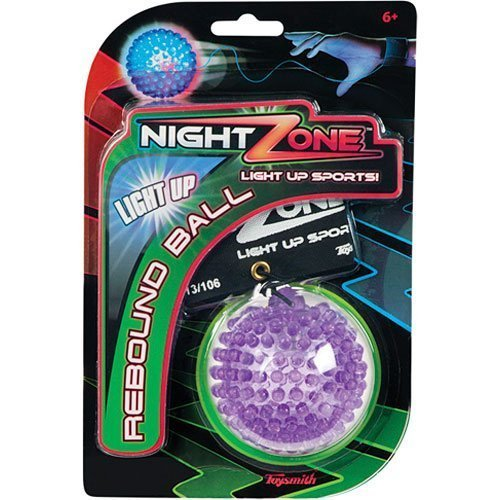 (Toysmith NightZone Light up Sports Flash Back Rebound Ball (Sold Individually - Colors Vary) (2-Pack))
