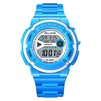 ALKSEN Kids Watch Multi Function Water resistant Shockproof Digital Boys Girls Sports Wrist Watch by ALKSEN