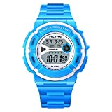 Kids Outdoor Multi Function Water resistant Shockproof Watch LED Digital Boys Outdoor Sports Wrist Watches for Boys Girls Best Gift Watches Blue