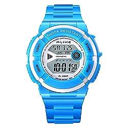 ALKSEN Kids Watch Multi Function Water resistant Shockproof Digital Boys Girls Sports Wrist Watch