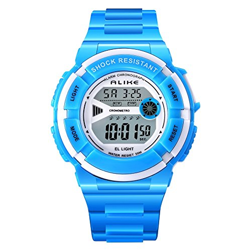 ALKSEN Kids Watch Multi Function Water resistant Shockproof Digital Boys Girls Sports Wrist Watch