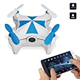 Hobbylane Mini Drone Optical Flow Sensor Aircraft, CX-OF WIFI FPV Drone with Camera, Helicopter iOS/Android Smartphone Control with Dancing Trajectory Flying and Multi Stunts Selfie Drone