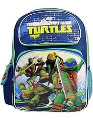 Full Size Blue and Green Teenage Mutant Ninja in Battle Turtles Backpack