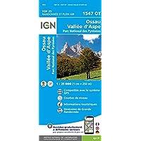 1547 OT Ossau - Vallée d'Aspe - Parc National des Pyrénées (Top 25 & série bleue - Carte de randonnée)