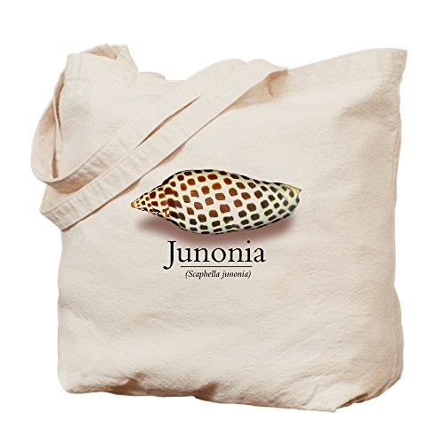 Junonias Seashell (CafePress - Junonia - - Natural Canvas Tote Bag, Cloth Shopping Bag)