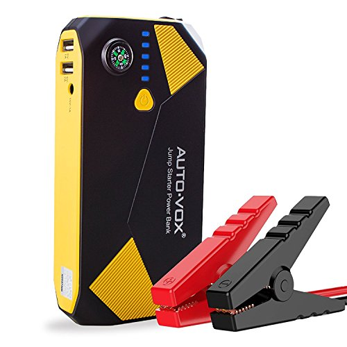 AUTO-VOX Portable Car Jump starter P2 14000mAh 500A Peak (Up to 5L Gas and 2L Diesel Engine) Emergency Kit Battery Booster Power Pack with Compass LED Lights & Multiple Slots (Car Starter Lithium Ion)