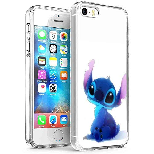 DISNEY COLLECTION Fit Apple iPhone 5S (2013)/iPhone SE (2016)/iPhone 5 (2012) 5.5in Stitch Super Stitck Quote ()