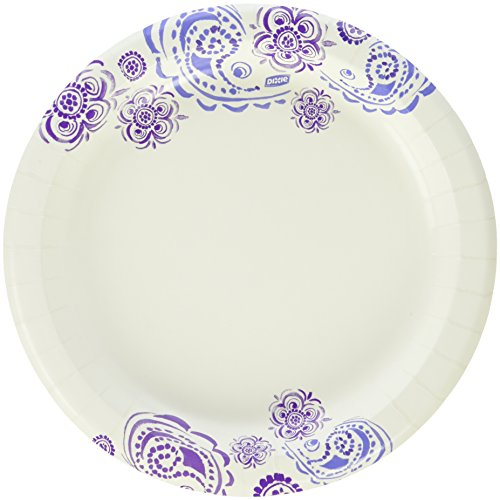 Multi-Purpose Dixie Everyday Disposable Paper Plates, 8.5...