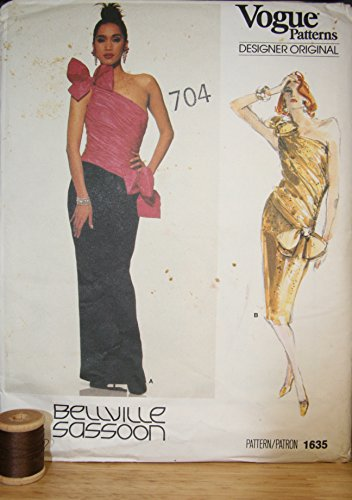 vogue-1635-bellville-sassoon-designer-sewing-pattern-for-cocktail-dress-or-evening-gown-with-asymmet