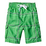NUWFOR Men's Pocket Loose-Fitting Show Line Elastic Waistband Beach Pants Shorts(Green,US XXL Waist:38.58-42.52'')
