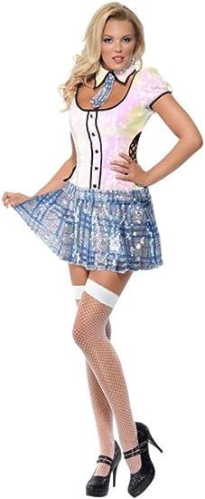 Smiffys - Disfraz de colegiala para mujer, talla 32-34 (29036XS ...