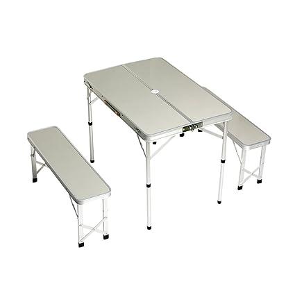 Amazon plixio folding aluminum picnic table with bench seats plixio folding aluminum picnic table with bench seats camping table watchthetrailerfo