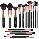 BESTOPE 18 Piece Makeup Brushes Set Premium Kabuki Brushes Synthetic Foundation Blending Blush Face Eyeliner Shadow Brow Concealer Lip Brush Tool Beauty Collection Cosmetic Brushes Kit (Rose Gold)