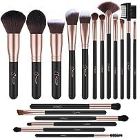 Makeup Brushes,BESTOPE 18PCS Makeup Brush Set Kabuki Brushes Synthetic Foundation Blending Blush Face Eyeliner Shadow Brow Concealer Lip Brush Kit (Rose Gold)
