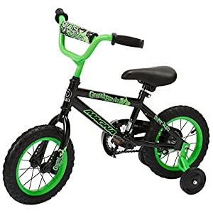 "Dynacraft Magna Gravel Blaster Boys BMX Street/Dirt Bike 12"", Black/Green"