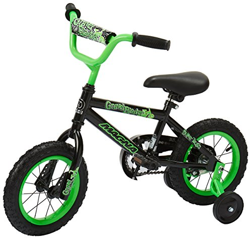 Dynacraft Magna Gravel Blaster Boys BMX Street/Dirt Bike 12'', Black/Green by Dynacraft