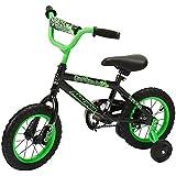 "Dynacraft Magna Gravel Blaster Boys BMX Street/Dirt Bike 12"", Black/Green"