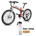 515JRBmoDcL. SS150 Shengmilo bici elettrica Bicicletta pieghevole elettrica e bike elettriche per uomo adulti mountain ebike 250W/350W/500W…