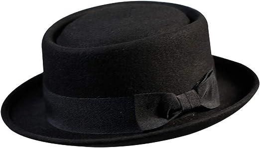 Pork Pie Hat 100 Wool Felt Men S Porkpie Breaking Bad Hats Flat Top Mens Fedora Party Costume At Amazon Men S Clothing Store