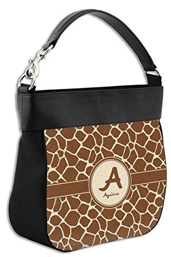 Personalized Front Purse Hobo Print Leather Genuine w Giraffe Trim 7wBqpq