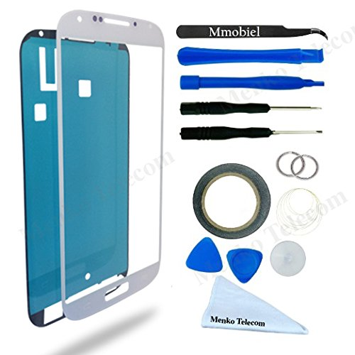 MMOBIEL Front Glass forSamsung Galaxy J7 J700 Series (White) Display Touchscreen incl Tool Kit / Pre-cut Sticker / Tweezers/ Roll of 2mm Adhesive Tape / Suction Cup / MetalWire / cleaning cloth