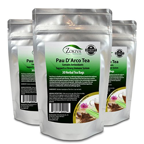 - Pau D'Arco Tea 3-Pack 100% Pure (90 Premium Bags) All-Natural Immune System Support