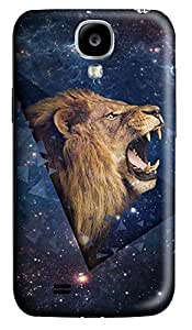 S4 Case, Samsung S4 Case, Customized Protective Samsung Galaxy S4 Hard 3D Cases - Personalized Lion The Night Cover