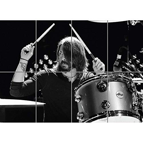 (DAVE GROHL DRUMMER GUITARIST SINGER FOO FIGHTERS NIRVANA GIANT POSTER PRINT B868)