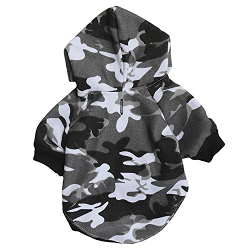 GINBL Pet Camouflage Small Dog Hoodie for Cute Dogs Sweatshirt Comfort Puppy Winter Costume Hoodies -